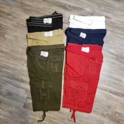 Marx & Dutch Mens Belted Cargo Twill Multipocket Shorts