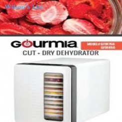 Gourmia GFD1850 Food Dehydrator With Touch Digital Temperature Control, Ten Drying Trays Plus Beef J