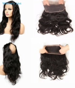 100% unprocessed virgin Hair 360 Lace Frontal Body Wave