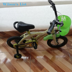 Kids 12 Inch Wheels John Speed Sporty Design Bicycle with Basket