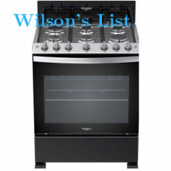 Whirlpool 30 inch 6 Burner Black Gas Stove #3100