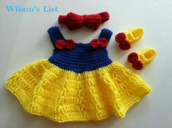 crochet baby girl dress set